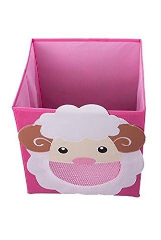 souriant Mouton Boîte de rangement à jouets pliable et armoire Organiseur pour enfants