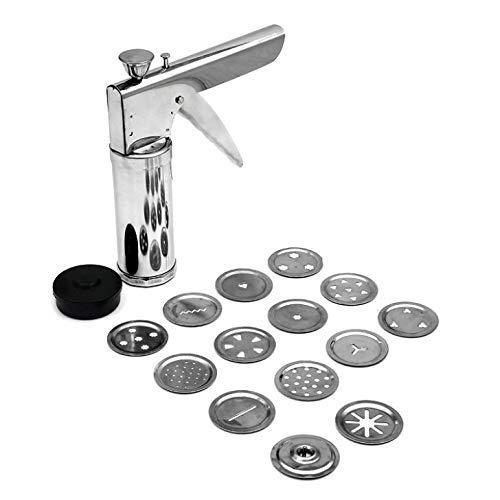 Teneza Stainless Steel Kitchen Press Sev Sancha | Chakali Maker | Murukku Janthikulu Maker | Gathiya Maker | Bhujiya Maker | Farsan Maker | Snackes Maker Machine with