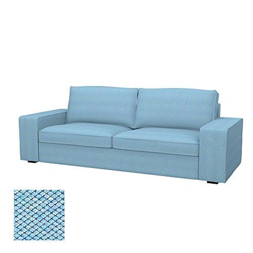Soferia - IKEA KIVIK Funda para sofá de 3 Plazas, Nordic Blue