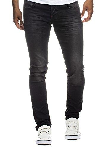 LEIF NELSON Herren Hose Jeans Jeanshose Freizeithose Denim LN301SC Schwarz