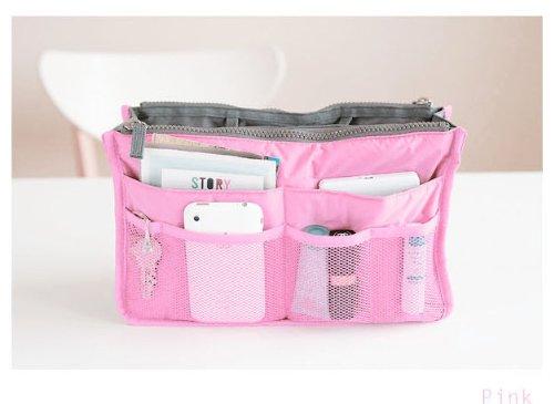 Bes® Handtasche Organizer Tasche BAG IN BAG Einsatz Tidy Travel Cosmetic Tasche Taschen, verschiedene Farben Slate gray Rose