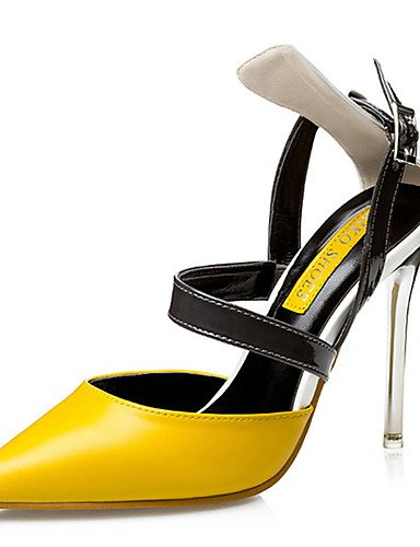 WSS 2016 Chaussures Femme-Décontracté-Noir / Jaune / Rose-Talon Aiguille-Talons-Chaussures à Talons-Polyuréthane pink-us4-4.5 / eu34 / uk2-2.5 / cn33