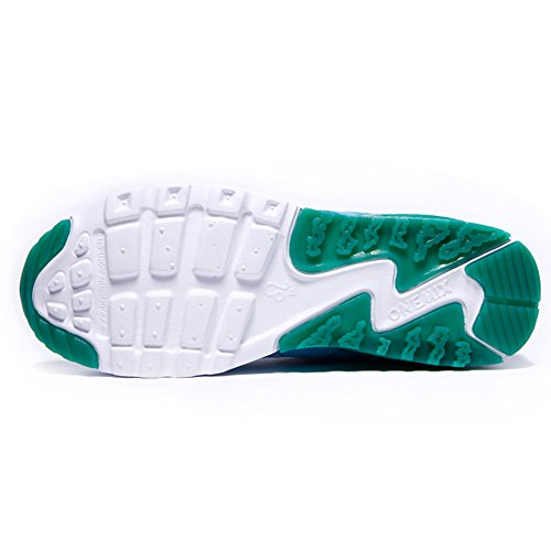 ONEMIX Air Baskets Chaussures Jogging Course Gym Fitness Sport Lacet Sneakers running Sport Compétition Trail Homme Femme ete Baskets Blue White