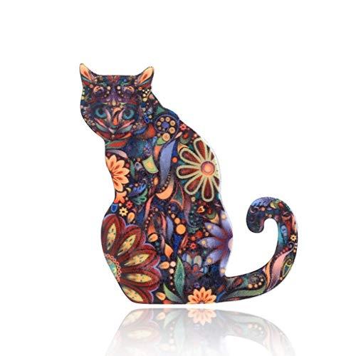 Baiyao Broche De Acrílico De Gato Mujer Broches Para Ropa Broches Para Vestidos