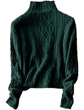Mujeres Suéter de Cachemira de Cuello Alto para - Jersey de Punto