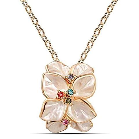 Exquisite Blätter Diamanten retro Temperament Halskette Anhänger weiblich ,