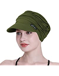 2cc54956 FocusCare Soft Hats for Chemo Women Bamboo Baseball Cap Hair Loss Turbans