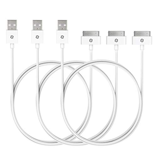 JETech USB Kabel für iPhone 4s, iPhone 4, iPhone 3G/3GS, iPad 1/2/3, iPod, 3 Stück, Weiß - 3g-usb-kabel