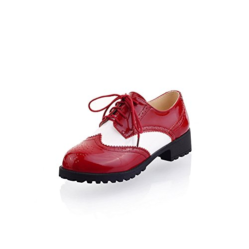 balamasa-womens-bandage-hollow-out-square-heels-red-patent-leather-flats-shoes-55-uk