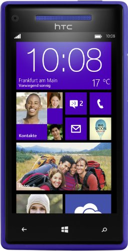 HTC Windows Phone 8X Smartphone (10,9 cm (4,3 Zoll) Super LCD Touchscreen, 1,5 GHz Dual-Core-Prozessor, 1 GB RAM, 8 Megapixel Kamera, 16 GB interner Speicher, NFC-fähig, Windows Phone 8 OS) blau (Phone Windows Htc)