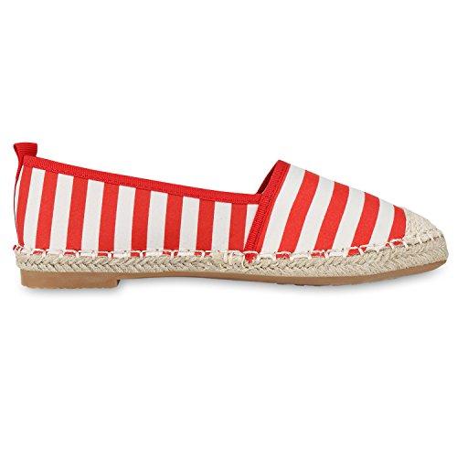 Japado Confortevole Donna Espadrillas Comode Pantofole Scintillanti Glitter Applique Alla Moda Estate Scarpe Taglia 36-41 Rosso Bianco Crema