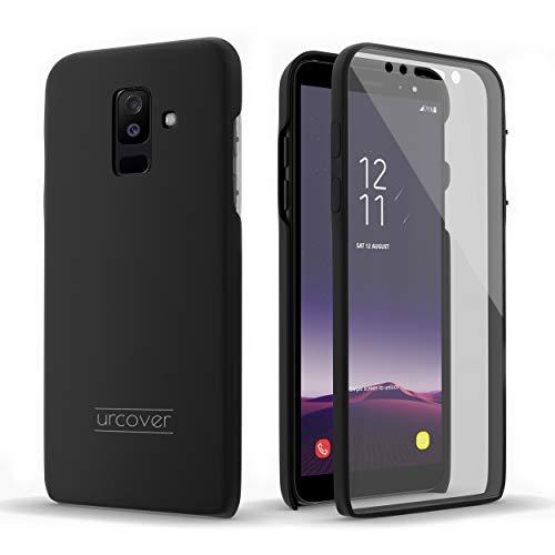 Urcover Touch Case 2.0 kompatibel mit Samsung Galaxy A6 Plus 2018 Hülle I Original berühmt durch Galileo I Hard-Edition I QI-fähig I Rundum 360° Schutzhülle I Crystal Clear Case in Schwarz (Samsung Galaxy 2 Case)