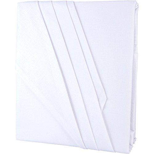 Bettlaken ohne Gummizug 2 Größen wählbar 100% Baumwolle Linon leichte Sommerdecke, klassisches Betttuch 150 x 250 cm weiß aqua-textil Serie Edition 1000329