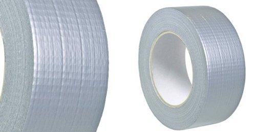 Colorus Gewebe Reparaturband silber/grau 48mm x 50m Duct Tape Gewebeband Panzertape