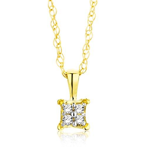 Orovi Kette - Halskette Damen Kette Gelbgold 18 Karat / 750 Gold Diamant Brillianten 0,02 ct 45 cm