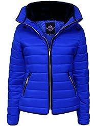 Amber Apparel - Abrigo - chaqueta guateada - para mujer