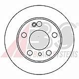 ABS 16188 Bremsscheiben - (Verpackung enthält 2 Bremsscheiben)