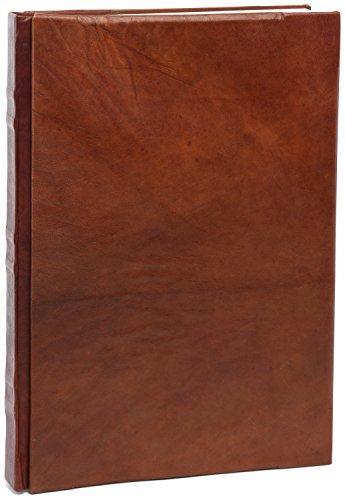 INDIARY Classic Notizbuch aus echtem Leder und handgeschöpftem Papier - A4
