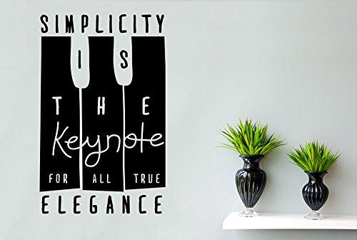 CUT IT OUT Coco Chanel Simplicity ist die Keynote für alle True Eleganz Wandtattoo-Groß (Höhe 90cm x Breite 57cm) schwarz