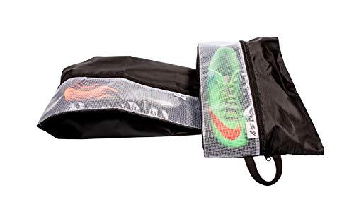 Schuhtasche Schuhbeutel (2er-Set) | Premium Unisex Shoe Bag für Koffer, Reise & Sport | Durchsichtig | Wasserdicht & Geruchsabweisend (schwarz/transparent)
