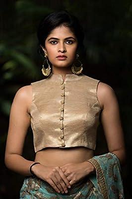 Xomantic Fashion Designer Sleeveless Wedding Blouse
