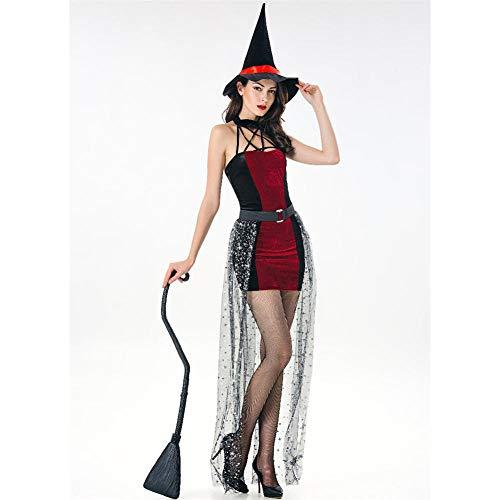 TIANFUSW Herrin Hexenkostüm Hexe Sexy Halloween Kostüm für Frauen, A (Cop Kostüm Paar)