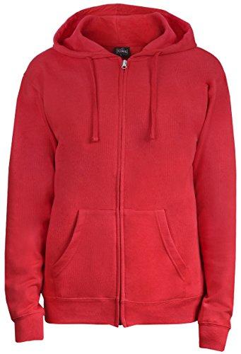 SUMG Apparel Unisex Kapuzenjacke Kapuzen Sweat-Jacke 'BASIC Hooded Zipper' (M, rot) (Rote Kapuzen-jacke)