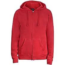 Rote sweatshirt jacke