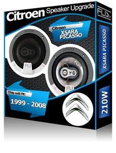 Fli Audio - Juego de altavoces para puertas delanteras de Citroën Xsara Picasso (210 W)