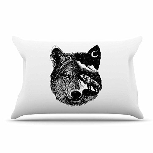 Kess eigene barmalisirtb Wolf Night, 76,2x 50,8cm (Kissen Sham Schwarz)