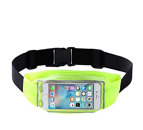 TeyxoCo Cycling Running Belt Pack Fanny Pack Finger Touch Waist Pack Green