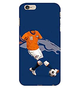 PrintVisa Football Player Horse 3D Hard Polycarbonate Designer Back Case Cover for Apple iPhone 6s Plus :: Apple iPhone 6s+