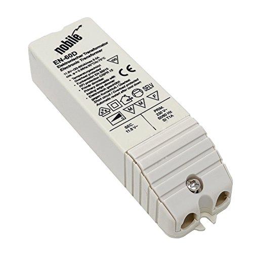 Elektronischer Transformator 20-60VA / 12V / 230V Einbau Trafo EN-60 D AC/DC für Halogen und LED