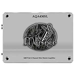 Lanzar AQA430SL - Mini Amplificatore Mosfet Marine, 1800W, 4 canali