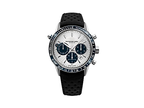 Reloj Automático Raymond Weil Freelancer, 43,5 mm, Cronógrafo, Plata, Día