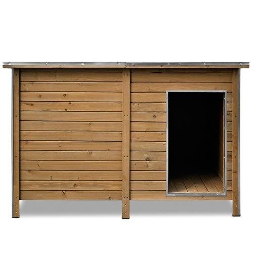 Happypet® Hundehütte DK150-2 wetterfest, isoliert mit Windfang aus Massivholz 150 x 95 x 95 cm - 3