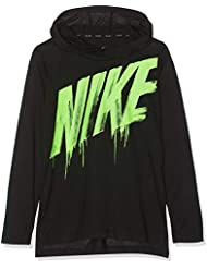 Nike B NK Brthe Ls Top Hyper Dry T- T-Shirt à Manches Longues Garçon