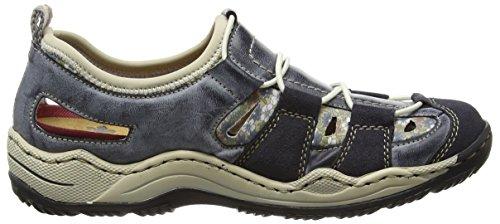 Rieker Damen L0561 Sneakers Blau (navy/atlantic/kornblume/beige / 14)