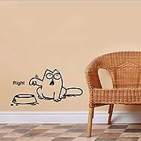 TYKCRt Wall Sticker Funny Cartoon Cat Vinyl Car Window Tank Accelerator Bowl Cat Decal S Decals Kitchen Living Room Paper