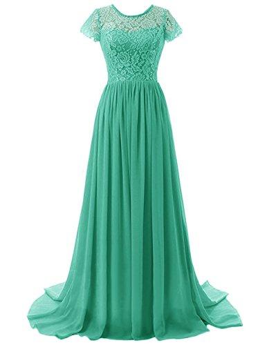 Beonddress Damen Lange Brautjungfer Kleid Chiffon Abendkleid ...