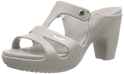 crocs Cyprus V Heel Women, Damen Pumps, Grau (Platinum/Platinum), 39-40 EU