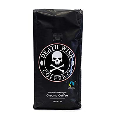 Death Wish Ground Coffee, The World's Strongest Coffee, Fair Trade and USDA Certified Organic by Death Wish Coffee