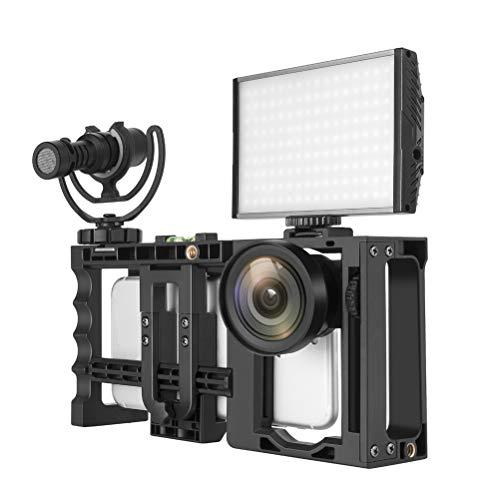 Zecti Estabilizador para Smartphone, Iphone Video Rig para cinematografía compatible con Apple iPhone Samsung y la mayoría de los teléfonos