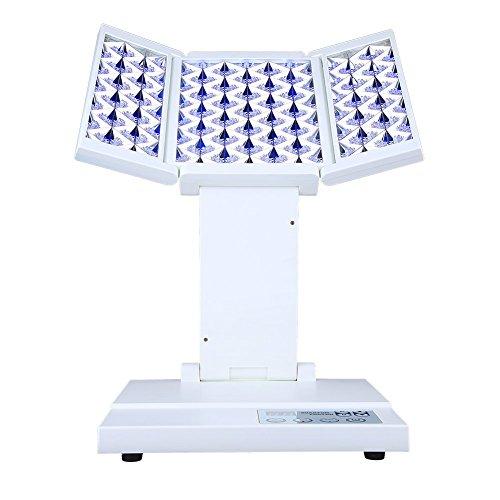 3 Farben LED Licht Photon-Therapie, Gesicht Kollagen Gesichtshautverjüngung Lichttherapie für Haut Anti-Aging von Gesichts und Hals als Tägliche Facial Schönheit Hautpflege Gesichtsbehandlung, geeignet für Beauty Salon oder Home, Rot / Blau / Gelb Lichte