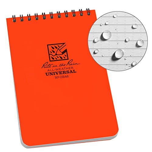 Rite in the Rain Allwetter-Notizbuch mit Spiralbindung 1 Pack Orange