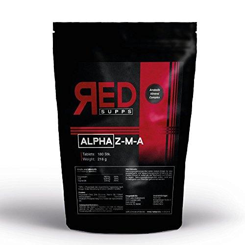 ALPHA Z-M-A   180 vegane Tabletten für 3 Monate Versorgung   Mineralien-Komplex: Zink Magnesium Vitamin B6   Testosteron-Booster - Proteinsynthese - Muskelfunktion + Musklaufbau   hochdosiert -