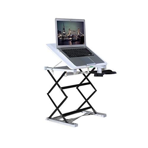 op-Ständer Tisch Schreibtischablage, Faltbare hochwertige Aluminium- und Zinklegierung Verstellbarer Tabletthalter für MacBook/Laptop/Notebook/Tablet ()