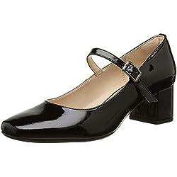 Clarks Chinaberry Pop - Zapatos de Vestir de cuero Mujer, Negro (Black Pat)