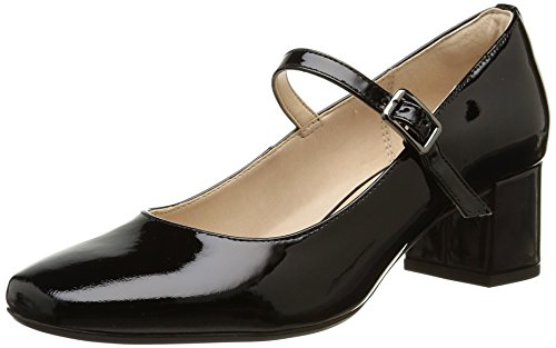 Clarks Chinaberry Pop, Damen Pumps, Schwarz (Black Patent), 41 EU (7 Damen UK)