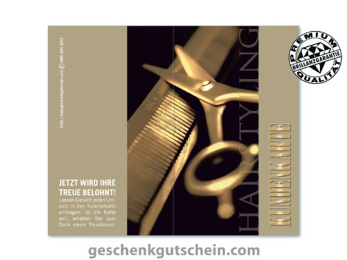 200 Stk. Kundenkarten für Friseure, Coiffeure, Haarstudios, Haarstyling K582